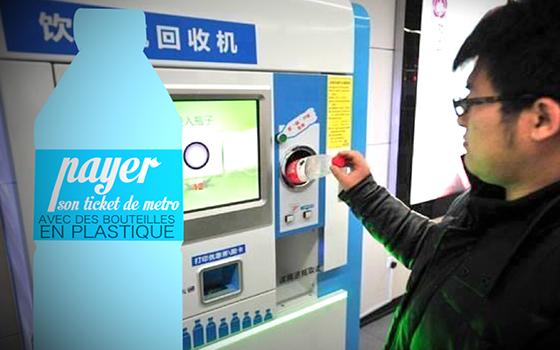 ticket-de-métro-avec-des-bouteilles-en-plastique-à-Pékin