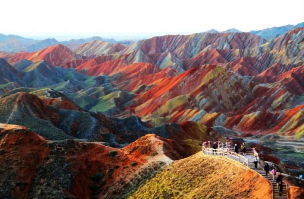 La Zhangye Danxia, dans la province de Gansu en Chine