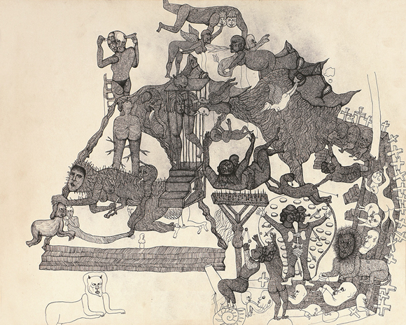 Oeuvre de Ba Zi, Source : Nanjing Outsider Art Center