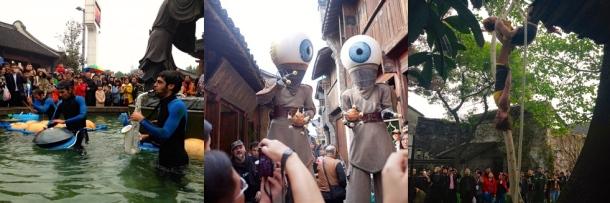 Spectacles en espace public présentés par le collectif franco-chinois ArtBirds