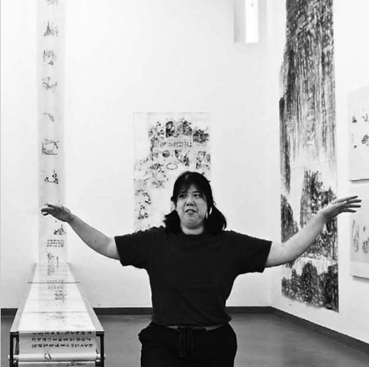 L'artiste Han Yi, Source : Galerie Christian Berst