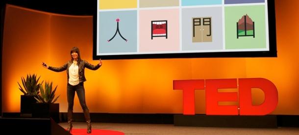 Shao Lan durant TEDtalks, février 2013