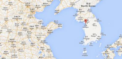 Incheon c'est ici ! La troisième ville la plus peuplée de Corée du sud (2,8 millions d'habitants).