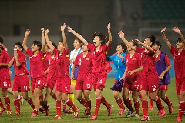 Les Roses d'acier pendant le championnat d'Asie des Nations 2014  (source : Getting Images)