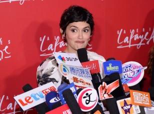 Audrey Tautou lors de l'inauguration des Galeries Lafayette en Chine. Source: Public.fr